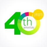 40 years round logo. Royalty Free Stock Photos
