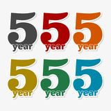 5 years of service, 5 years, Celebrating 5 years, 5rd Anniversary - Set. Vector icon royalty free illustration