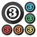 3 years of service, 3 years, Celebrating 3 years, 3rd Anniversary - Set. Vector icon vector illustration