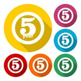 5 years of service, 5 years, Celebrating 5 years, 5rd Anniversary - Set. Vector icon vector illustration