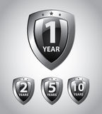 Years shields Royalty Free Stock Image