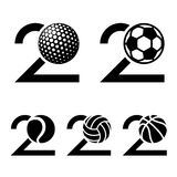 20 years sport ball anniversary. Illustration for the web Stock Images