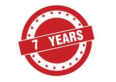 7 years text on red stamp vector design. Isolated on white background vector illustration