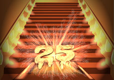 25 years. time passed. Abstract festive background Stock Images