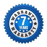 7 Years Warranty Badge Isolated. On white background. 3D render vector illustration