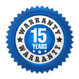 15 Years Warranty Badge Isolated Royalty Free Stock Photos