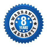 8 Years Warranty Badge Isolated. On white background. 3D render vector illustration