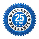 25 Years Warranty Badge Isolated Stock Images