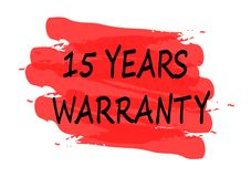 15 years warranty banner. 15 years warranty red banner Stock Images