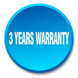 3 years warranty button. 3 years warranty round button isolated on white background. 3 years warranty royalty free illustration