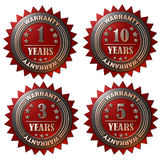 1, 3, 5 and 10 years Warranty Royalty Free Stock Images