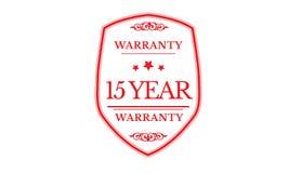 15 years warranty design,best black stamp. Illustration stock illustration