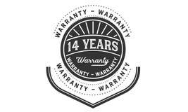 14 years warranty design vintage,best stamp collection. 14 years warranty design,best black stamp illustration vector illustration