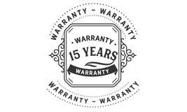 15 years warranty design vintage,best stamp collection. 15 years warranty design,best black stamp illustration vector illustration
