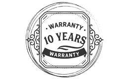 10 years warranty design vintage,best stamp collection. 10 years warranty design,best black stamp illustration royalty free illustration