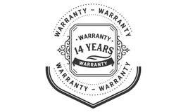14 years warranty design vintage,best stamp collection. 14 years warranty design,best black stamp illustration royalty free illustration