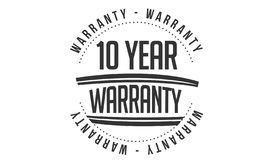 10 years warranty design stamp. Badge icon royalty free illustration