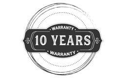 10 years warranty design vintage,best stamp collection. 10 years warranty design,best black stamp illustration stock illustration
