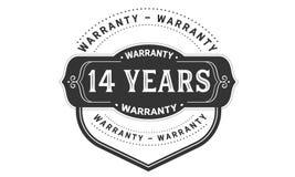 14 years warranty design vintage,best stamp collection. 14 years warranty design,best black stamp illustration stock illustration