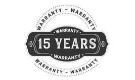 15 years warranty design vintage,best stamp collection. 15 years warranty design,best black stamp illustration royalty free illustration