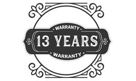13 years warranty design vintage,best stamp collection. 13 years warranty design,best black stamp illustration stock illustration