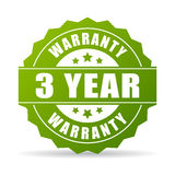 3 years warranty icon. 3 years warranty vector icon Royalty Free Stock Image