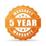 5 years warranty icon. 5 years warranty vector icon Royalty Free Stock Photography