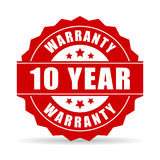 10 years warranty icon. 10 years warranty vector icon Stock Photos