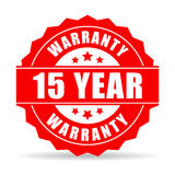 15 years warranty icon Royalty Free Stock Images