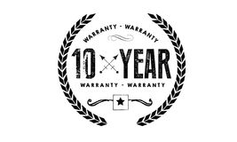 10 years warranty icon vintage. Rubber stamp guarantee Royalty Free Stock Photos