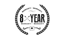 8 years warranty icon vintage rubber. Stamp guarantee Stock Photography
