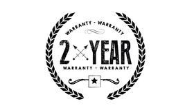 2 years warranty icon vintage rubber. Stamp guarantee Royalty Free Stock Photography