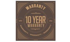 10 years warranty illustration design stamp. Badge icon quote illustration vector illustration