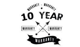10 years warranty illustration design stamp. Badge icon vector stock illustration