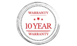 10 years warranty illustration design. Stamp badge icon stock illustration