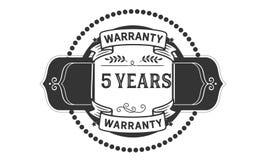 5 years warranty illustration design stamp badge icon. 5 years warranty illustration design stamp badge illustration icon stock illustration