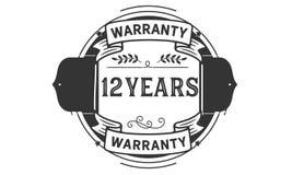 12 years warranty illustration design stamp badge icon. 12 years warranty illustration design stamp badge illustration icon royalty free illustration