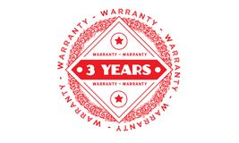 3 years warranty illustration design stamp badge icon. 3 years warranty illustration design stamp badge illustration icon stock illustration
