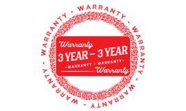 3 years warranty illustration design stamp badge icon. 3 years warranty illustration design stamp badge illustration icon royalty free illustration