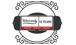13 years warranty illustration design stamp badge icon. 13 years warranty illustration design stamp badge illustration icon vector illustration