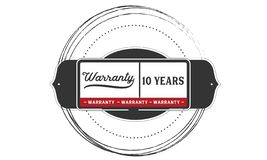 10 years warranty illustration design stamp badge icon. 10 years warranty illustration design stamp badge illustration icon royalty free illustration