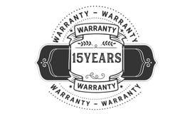 15 years warranty illustration design stamp badge icon. 15 years warranty illustration design stamp badge illustration icon royalty free illustration