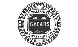 6 years warranty illustration design stamp badge icon. 6 years warranty illustration design stamp badge illustration icon royalty free illustration