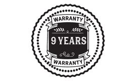 9 years warranty illustration design stamp badge icon. 9 years warranty illustration design stamp badge illustration icon vector illustration
