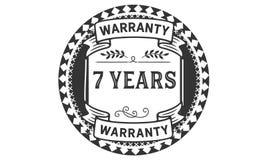 7 years warranty illustration design stamp badge icon. 7 years warranty illustration design stamp badge illustration icon vector illustration