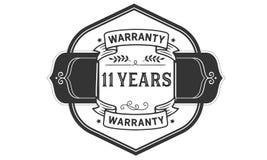 11 years warranty illustration design stamp badge icon. 11 years warranty illustration design stamp badge illustration icon royalty free illustration