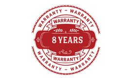8 years warranty illustration design stamp badge icon. 8 years warranty illustration design stamp badge illustration icon royalty free illustration