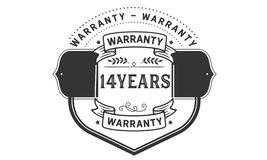 14 years warranty illustration design stamp badge icon. 14 years warranty illustration design stamp badge illustration icon royalty free illustration