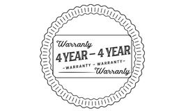 4 years warranty illustration design stamp badge icon. 4 years warranty illustration design stamp badge illustration icon royalty free illustration