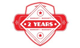 2 years warranty illustration design stamp badge icon. 2 years warranty illustration design stamp badge illustration icon stock illustration